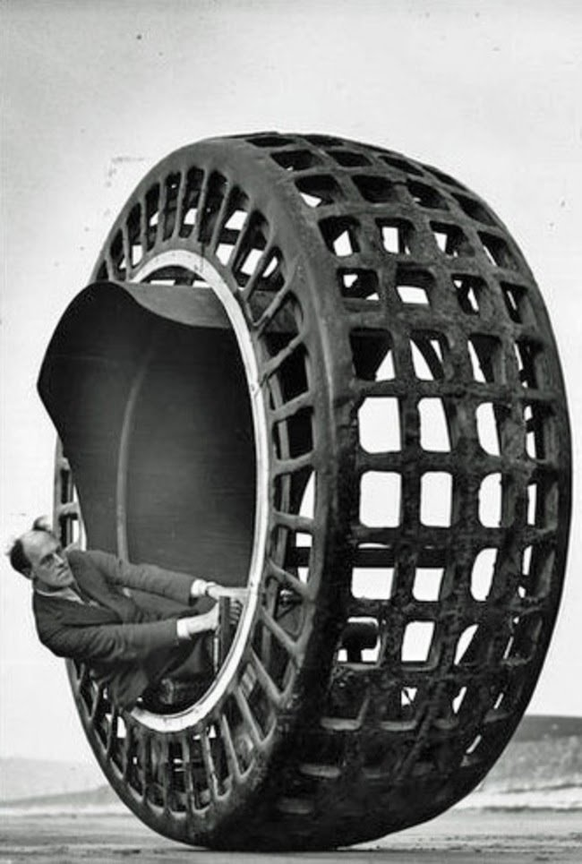 The Dynasphere, which is a monowheel built in 1932 that can go up to 25 miles an hour #History