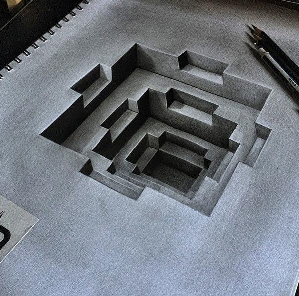 لوحات فنية #3D باستخدام أقلام الرصاص والجرافيت #فن - صورة 2