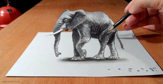 لوحات فنية #3D باستخدام أقلام الرصاص والجرافيت #فن - صورة 8