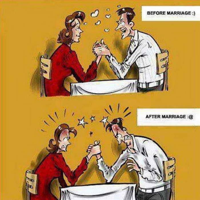 صور قبل وبعد #الزواج #مضحك #نهفات - صورة ٢٢