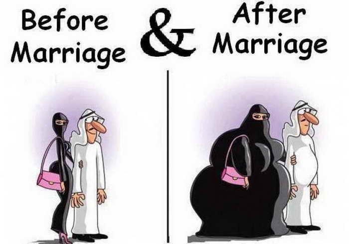 صور قبل وبعد #الزواج #مضحك #نهفات - صورة ٢١