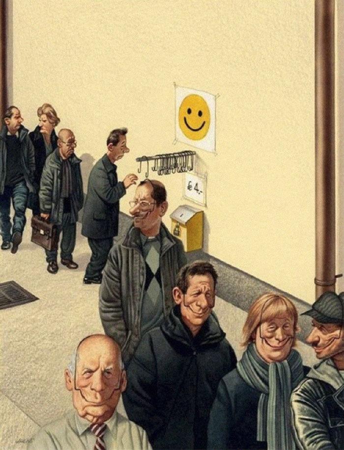 30 #كاريكاتير ولوحات فنية عميقة للفنان #Gerhard_Haderer #فن - صورة 28