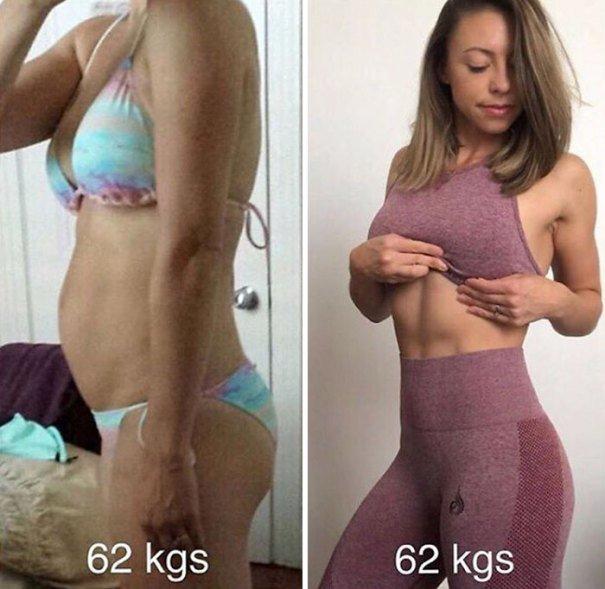37 صورة تثبت أن الوزن الأقل وحده ليس دليل على الرشاقة #تخسيس #بنات #صحة - صورة 17