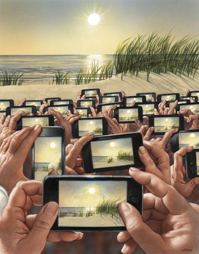30 #كاريكاتير ولوحات فنية عميقة للفنان #Gerhard_Haderer #فن - صورة 29