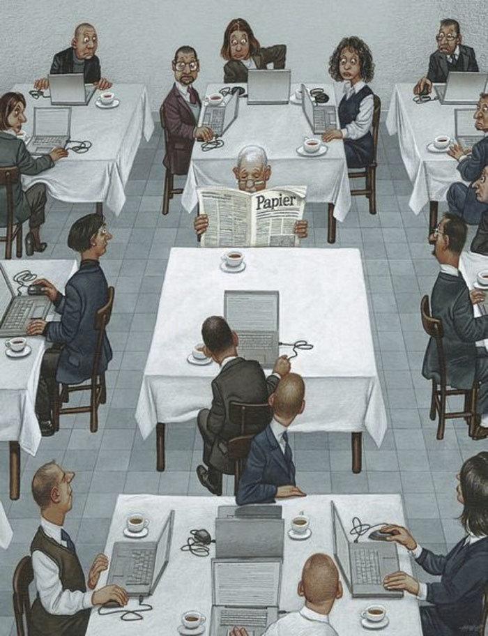 30 #كاريكاتير ولوحات فنية عميقة للفنان #Gerhard_Haderer #فن - صورة 27