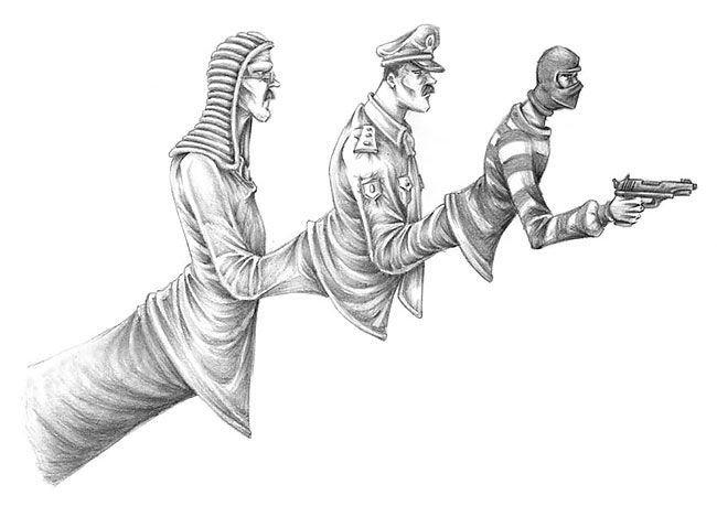 #كاريكاتير يصف الحكومات الدكتاتورية ودول اللاقانون