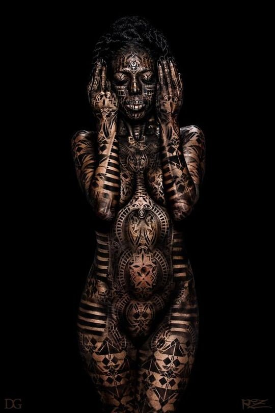 #فن الرسم على الجسم #body_painting - صورة ٣