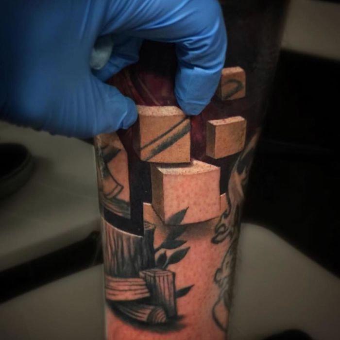 20 وشم #Tattoo ثلاثي الأبعاد #3D مبهر وخادع للبصر #فن - صورة 11