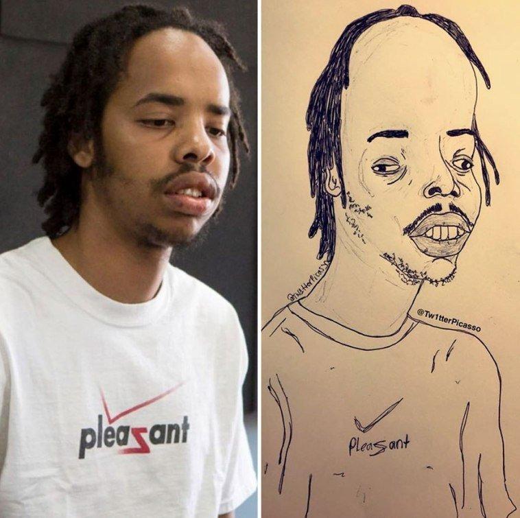 36 صورة لفنان يقوم بنشر رسومات مضحكة لصور #مشاهير على #تويتر @Tw1tterpicasso #مضحك #نهفات #فن - صورة 22