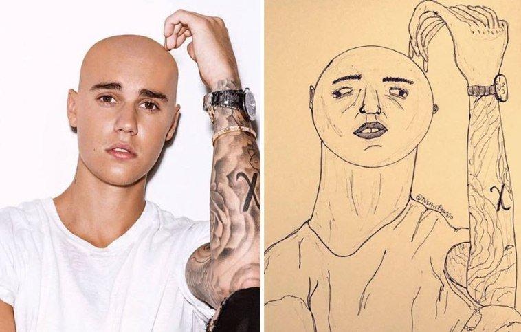 36 صورة لفنان يقوم بنشر رسومات مضحكة لصور #مشاهير على #تويتر @Tw1tterpicasso #مضحك #نهفات #فن - صورة 1
