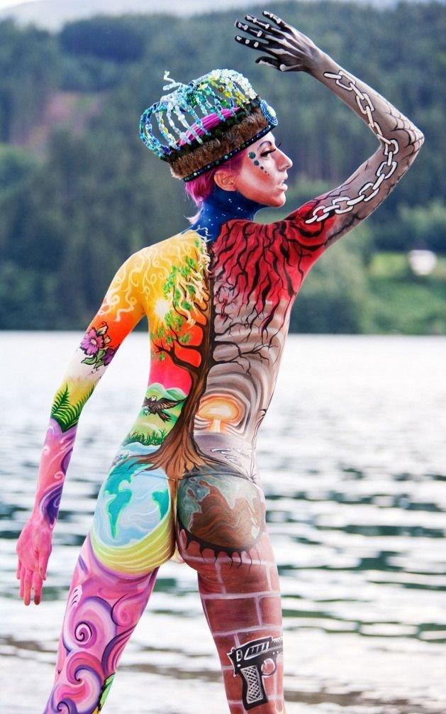 #فن الرسم على الجسم #body_painting - صورة ٤