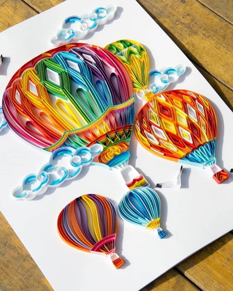 #فن الرسم بالورق الملون - صورة ٢٩