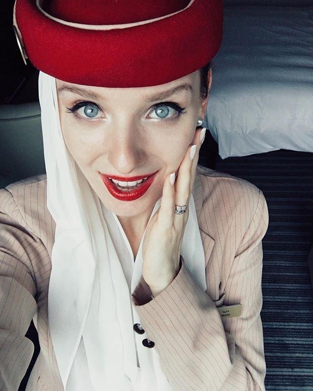 ٢٤ صورة لمضيفات طيران #الإمارات @emirates #بنات - صورة ١٩