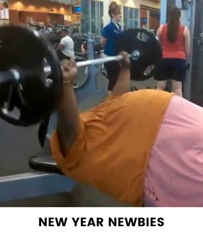 Eight Types Of Girls You See At The Gym - New Year Newbies Girls