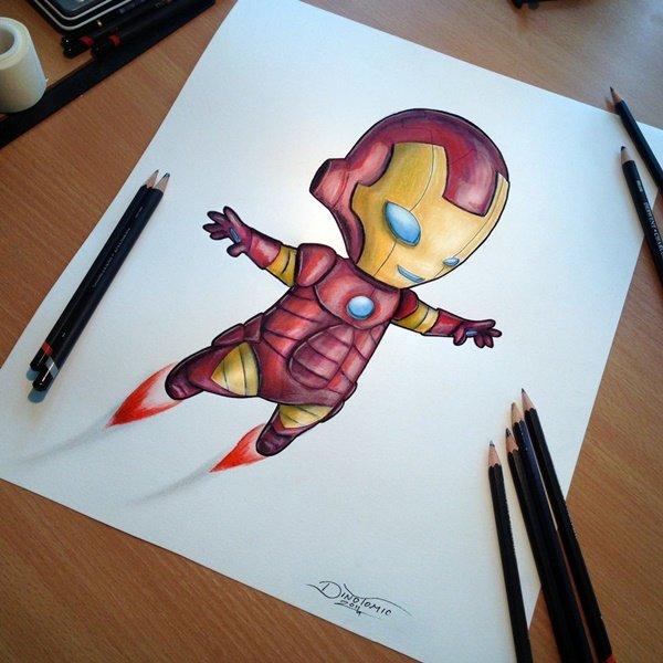 40 صورة ملونة باستخدام أقلام الرصاص #Pencil_Drawing #فن - صورة 19