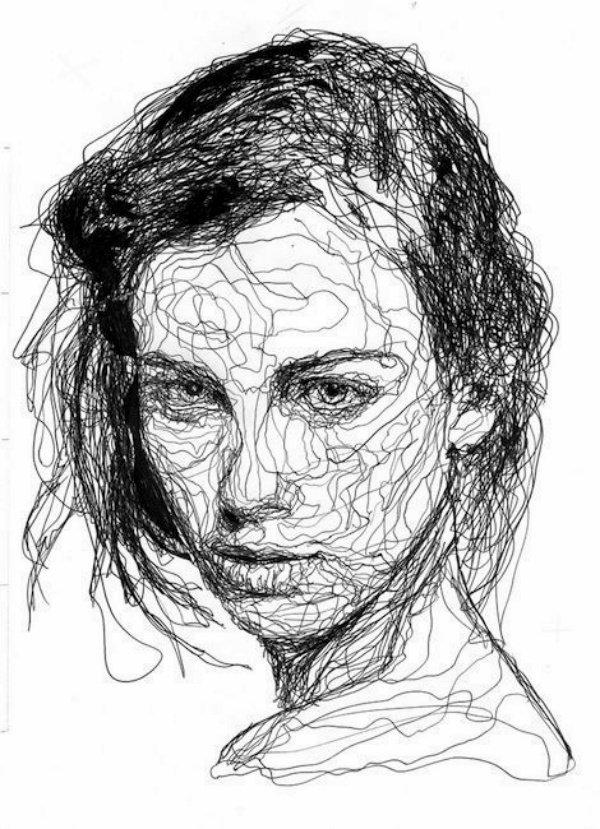 40 صورة للوحات فنية باستخدام الخطوط #Lines_Drawings #فن - صورة 13
