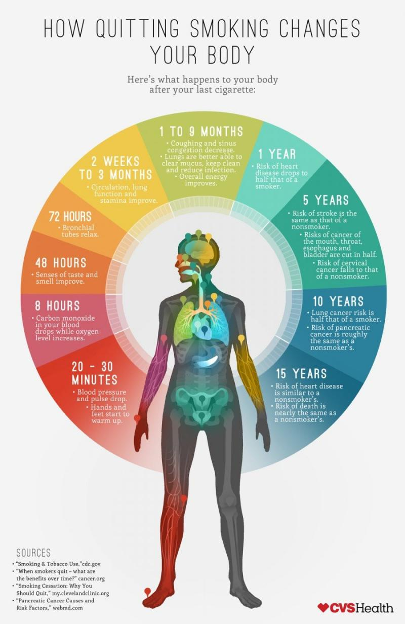 How quitting smoking changes your body #Infographic