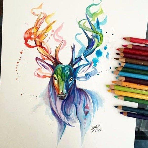 40 صورة ملونة باستخدام أقلام الرصاص #Pencil_Drawing #فن - صورة 25