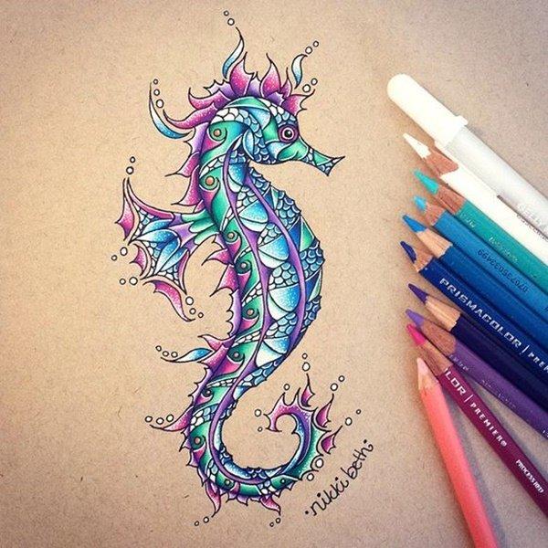 40 صورة ملونة باستخدام أقلام الرصاص #Pencil_Drawing #فن - صورة 27