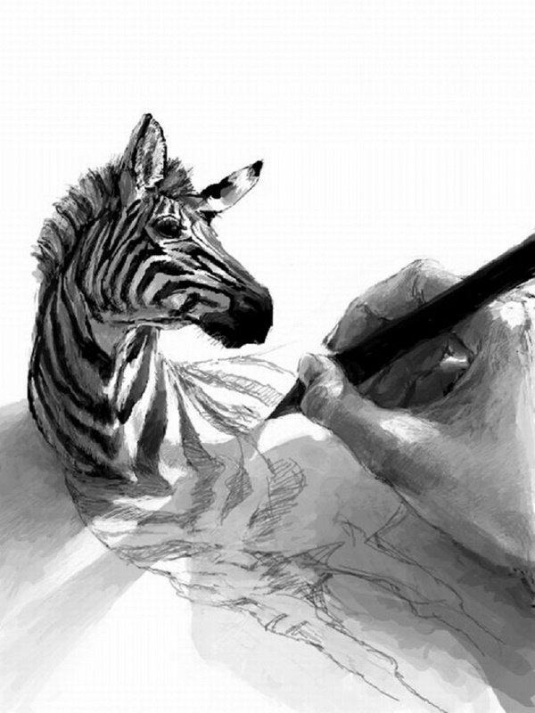 رسومات ثلاثية الأبعاد #3D باقلام الرصاص #Pencil_Sketch متقنة جدا #فن - صورة ١٠