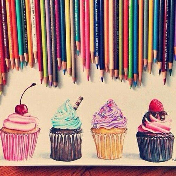 40 صورة ملونة باستخدام أقلام الرصاص #Pencil_Drawing #فن - صورة 30