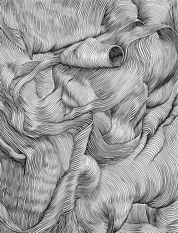 40 صورة للوحات فنية باستخدام الخطوط #Lines_Drawings #فن - صورة 28