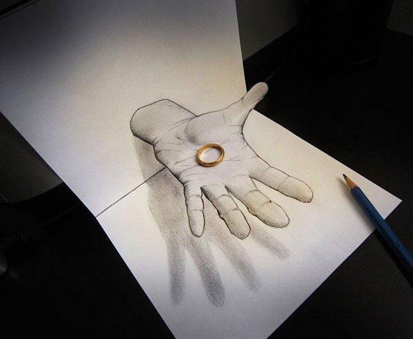 رسومات ثلاثية الأبعاد #3D باقلام الرصاص #Pencil_Sketch متقنة جدا #فن - صورة ١٧