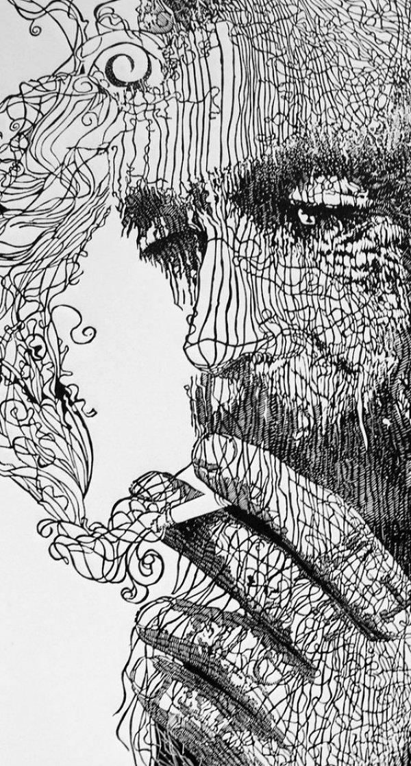 40 صورة للوحات فنية باستخدام الخطوط #Lines_Drawings #فن - صورة 9