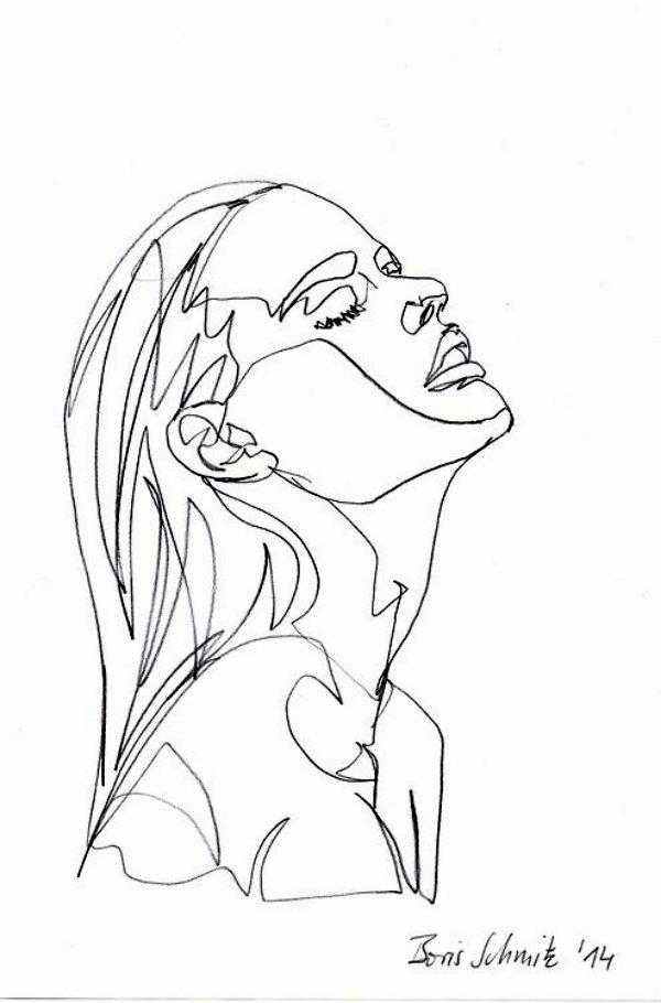 40 صورة للوحات فنية باستخدام الخطوط #Lines_Drawings #فن - صورة 8
