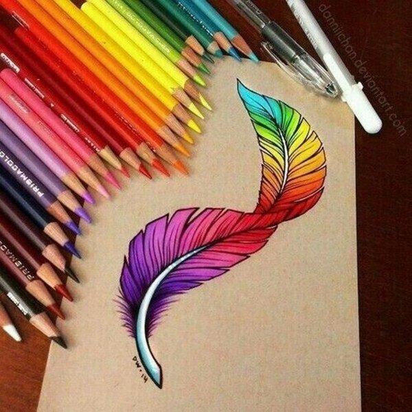 40 صورة ملونة باستخدام أقلام الرصاص #Pencil_Drawing #فن - صورة 29