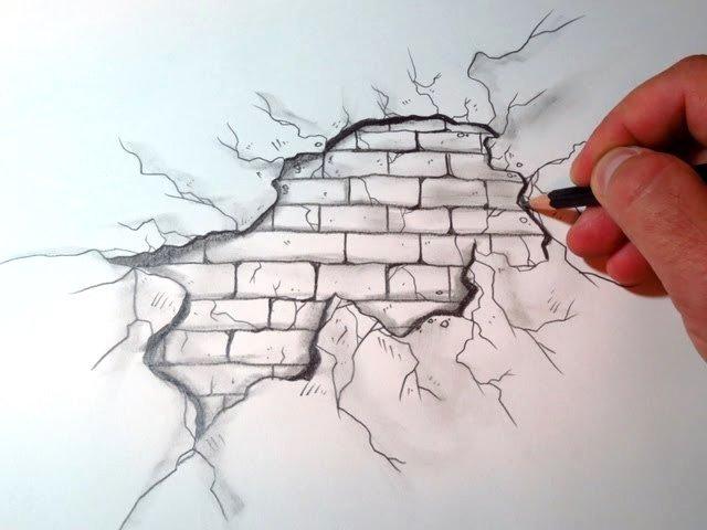 رسومات ثلاثية الأبعاد #3D باقلام الرصاص #Pencil_Sketch متقنة جدا #فن - صورة ٢٦