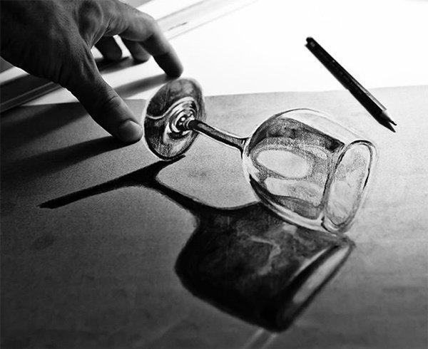 رسومات ثلاثية الأبعاد #3D باقلام الرصاص #Pencil_Sketch متقنة جدا #فن - صورة ٧