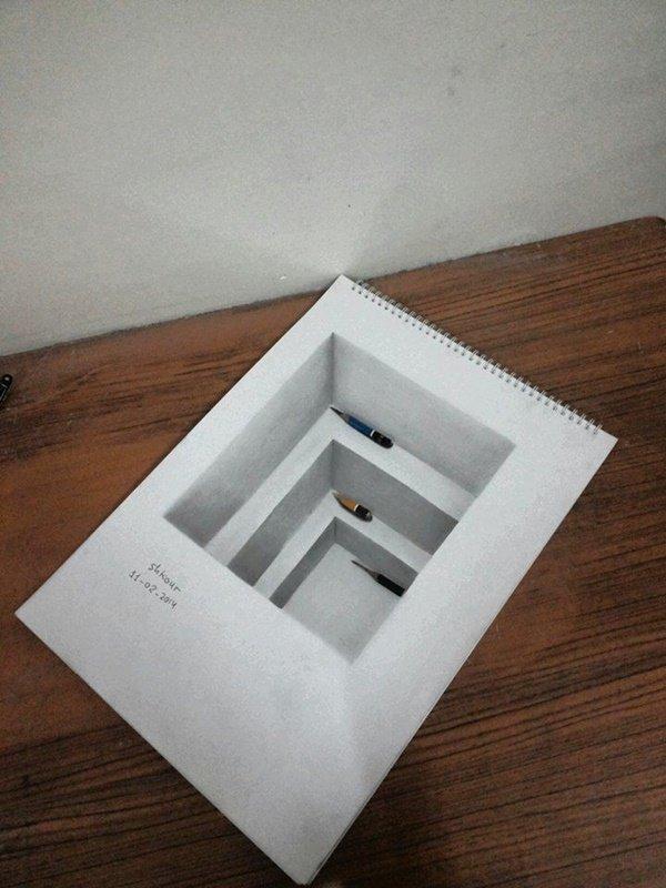رسومات ثلاثية الأبعاد #3D باقلام الرصاص #Pencil_Sketch متقنة جدا #فن - صورة ٢١