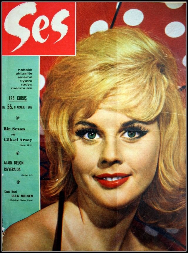 أكثر من 40 صورة غلاف لمجلة #Ses التركية المختصة بالجمال تعود للستينات من القرن الماضي #بنات #تاريخ - Ulla Nielsen