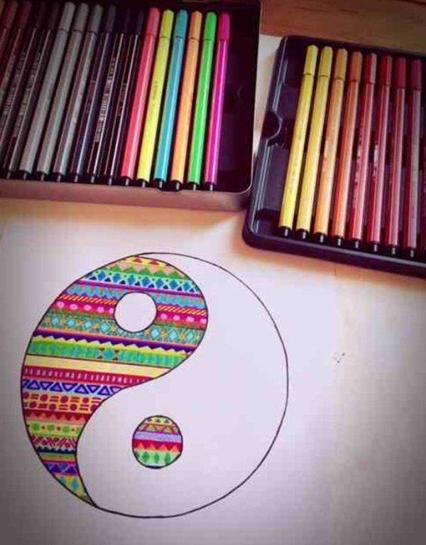 40 صورة ملونة باستخدام أقلام الرصاص #Pencil_Drawing #فن - صورة 10