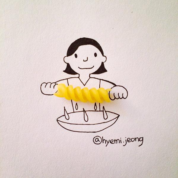 10 أعمال فنية للفنان @heymi.jeong يدمج فيها الرسم مع مواد متداولة #فن - صورة 2