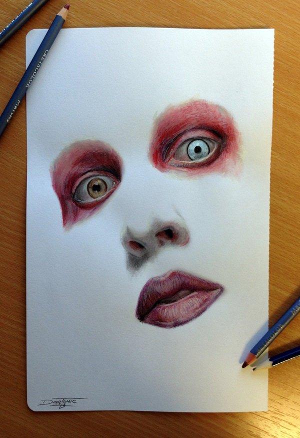 40 صورة ملونة باستخدام أقلام الرصاص #Pencil_Drawing #فن - صورة 20
