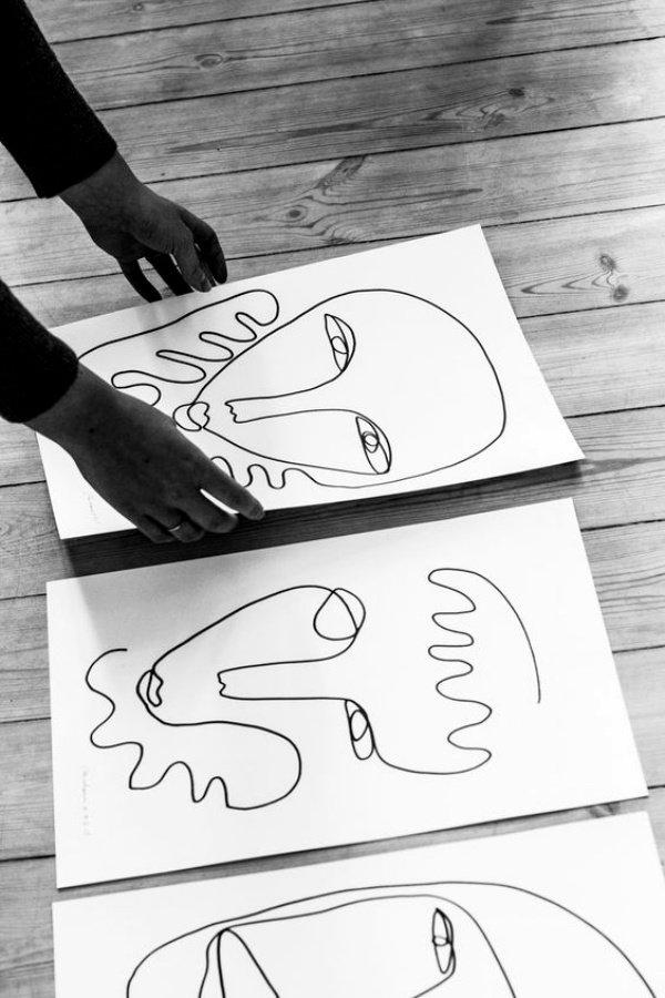 40 صورة للوحات فنية باستخدام الخطوط #Lines_Drawings #فن - صورة 14