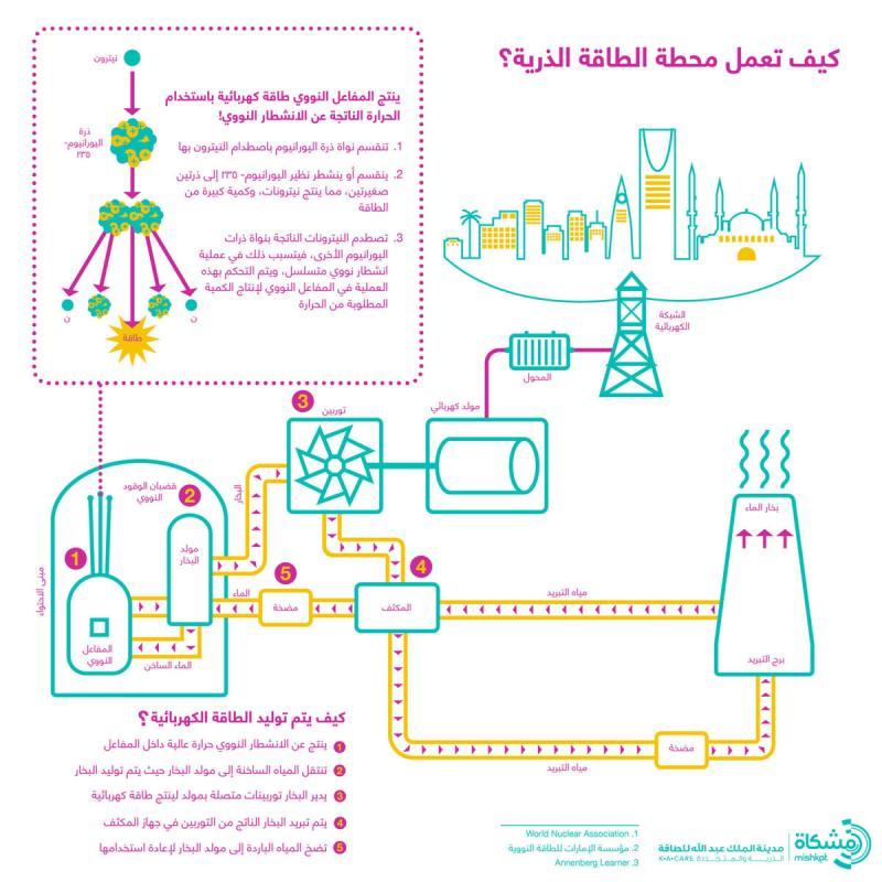 كيف تعمل محطة الطاقة الذرية #انفوجرافيك #انفوجرافيك_عربي