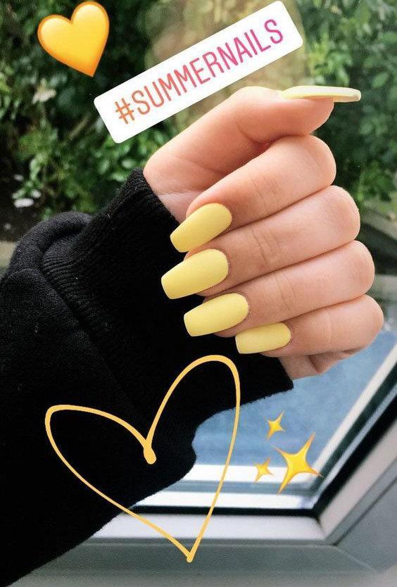 30 صورة ل #مناكير بمشتقات ودرجات اللون الأصفر #ماكياج #بنات - صورة 9