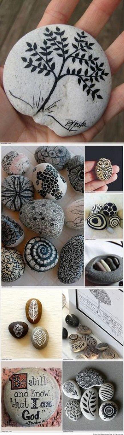 37 لوحة فنية باستخدام #الحجارة #Pebble_art #فن - صورة 4