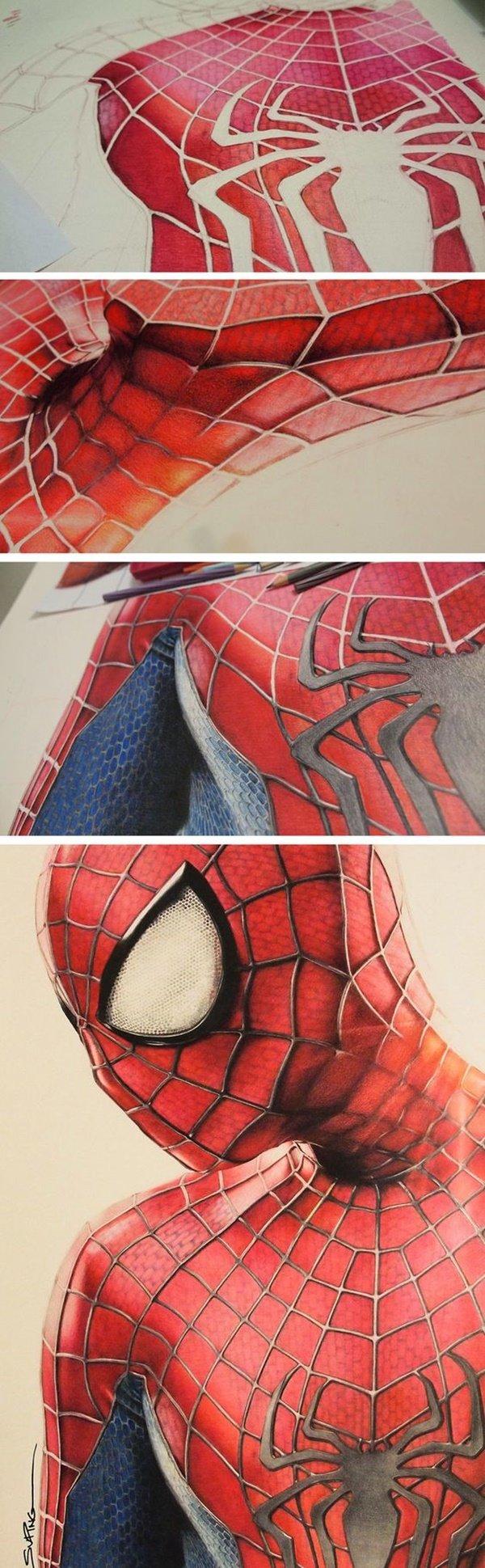 40 صورة ملونة باستخدام أقلام الرصاص #Pencil_Drawing #فن - صورة 4