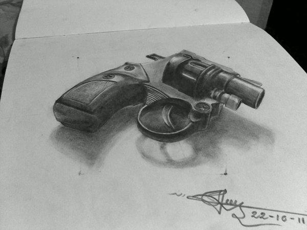 رسومات ثلاثية الأبعاد #3D باقلام الرصاص #Pencil_Sketch متقنة جدا #فن - صورة ٨