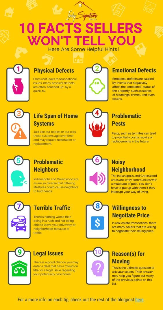 Ten facts sellers wont tell you #Infographic