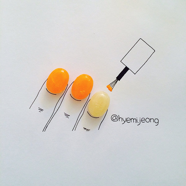 10 أعمال فنية للفنان @heymi.jeong يدمج فيها الرسم مع مواد متداولة #فن - صورة 3