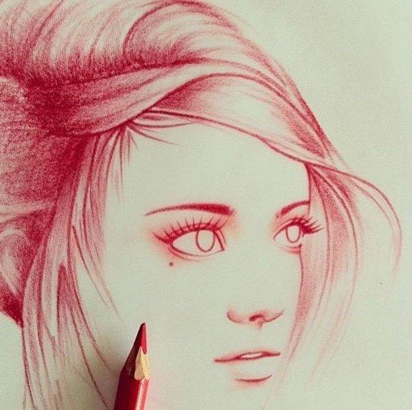 40 صورة ملونة باستخدام أقلام الرصاص #Pencil_Drawing #فن - صورة 38