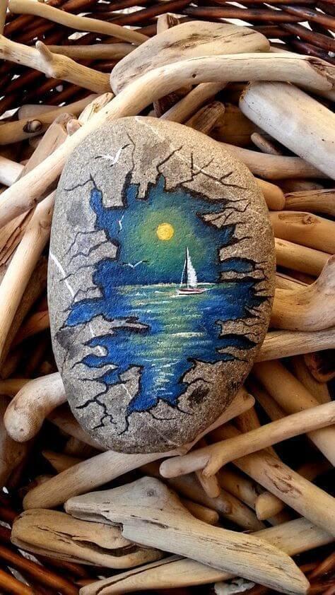37 لوحة فنية باستخدام #الحجارة #Pebble_art #فن - صورة 5