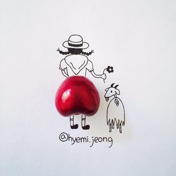 10 أعمال فنية للفنان @heymi.jeong يدمج فيها الرسم مع مواد متداولة #فن - صورة 6