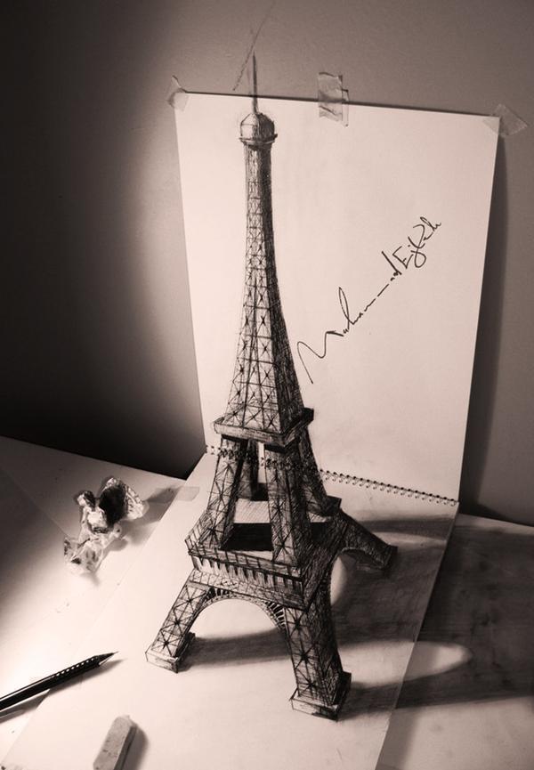 رسومات ثلاثية الأبعاد #3D باقلام الرصاص #Pencil_Sketch متقنة جدا #فن - صورة ٢