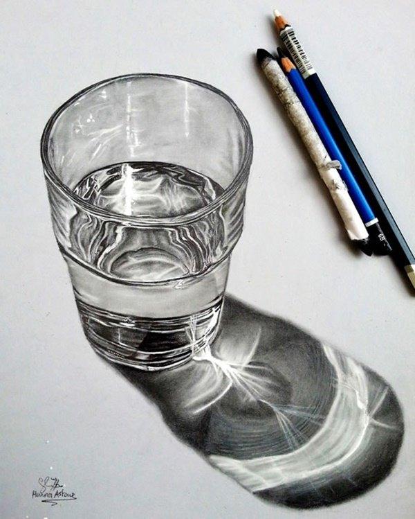 رسومات ثلاثية الأبعاد #3D باقلام الرصاص #Pencil_Sketch متقنة جدا #فن - صورة ٤